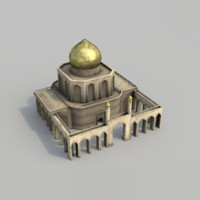 Arabian city - courtyard building