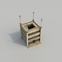 3d model buildings arabian city -