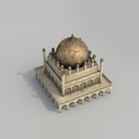 buildings arabian city - 3d model