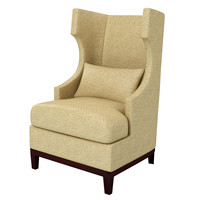 wing chair r obj
