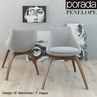3ds max porada penelope chair