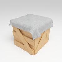 3d wood carton model