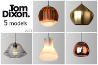 3d max tom dixon lighting set
