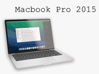 new macbook pro 2015 3d model