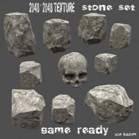 stone 1 3d obj