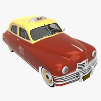 packard 1948 taxi cab 3d 3ds