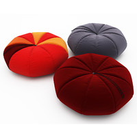 colorful pumpkin pouf obj