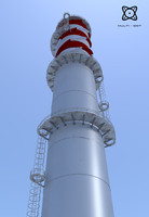 3ds max industrial chimney