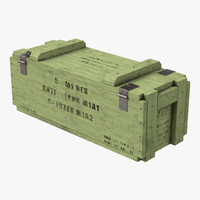 3d ammo crate 3 green