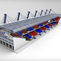 3d stadium seating tribune wide