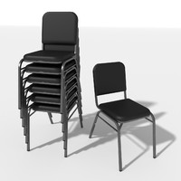 generic stacking chair 3ds