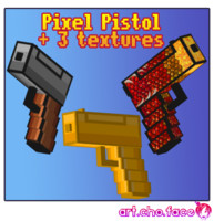 3ds max pistol pixel 3