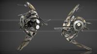 drone scifi 3d max