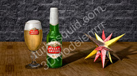 3ds max stella artois beer bottle