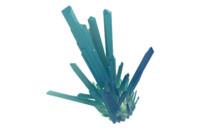 3d model crystals glow