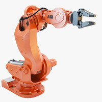 3d abb irb 7600 industrial robot model