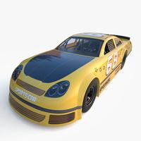 3d generic nascar car model