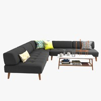sofa kate spade saturday 3d model