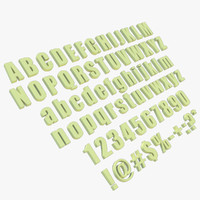 3d model letters numbers