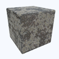 Muddy Diamond Plate PBR