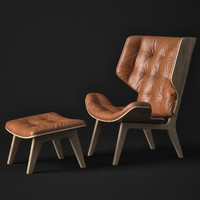 3d mammoth chair norr11 ottoman model