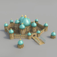3ds max monumental palace bagdad