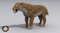 max saber-toothed smilodon feline