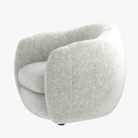 3d model chair jean royere bear