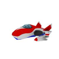 plane cartoon 3d max