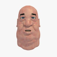 realistically old male head 3d c4d