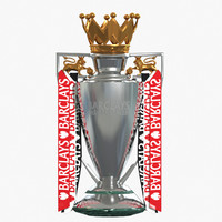 premier league cup trophy obj