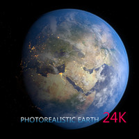 earth day night 3d c4d