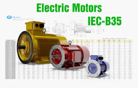 72 CAD Models - Electric Motors IEC B35
