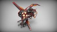 3d drone manga red model