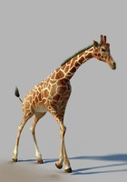 hd giraffe rigged posed max