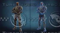 sci-fi soldier armor 3d fbx