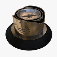 3d model luxury mariner compass