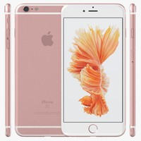 3d model apple iphone 6s rose