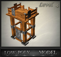 wood tower lvl 4 3d 3ds