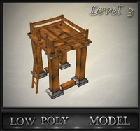 3d wood tower lvl 3