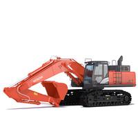 3d model excavator hitachi zx470