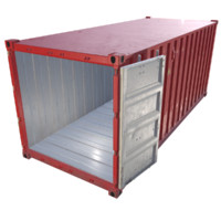 3ds max 20ft cargo container