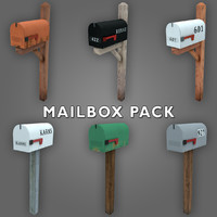 3d model low-poly mailbox