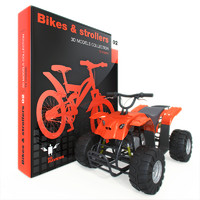 bike stroller 3d max