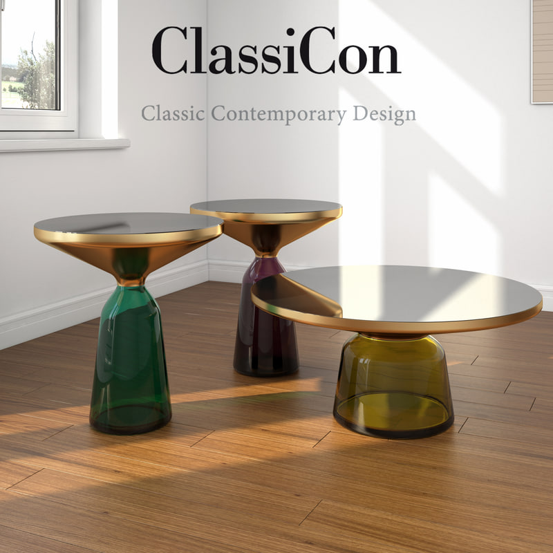 3d Coffee Table Set Bell