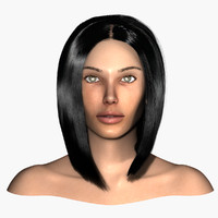 3d realistic female head