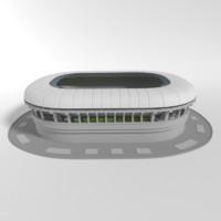 soccer stadium 3d blend