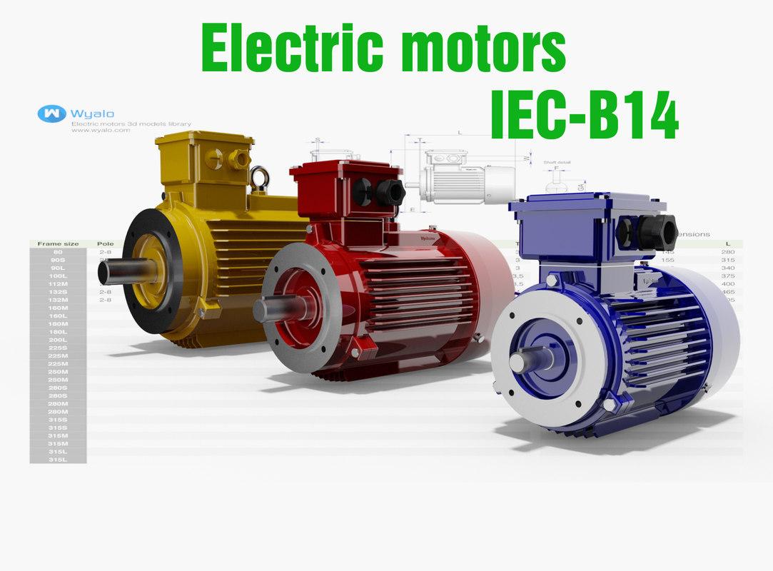 Iec Motors Cad 14 3d Dwg