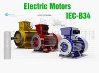 iec motors cad - 3d model