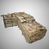wood stack scan 3d model